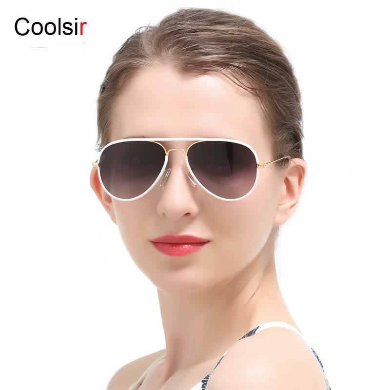 Coolsir Brand New Aviator Pilot Sunglasses Classic Alloy <font><b>Frame</b></font> Polarized UV400 Women Sun <font><b>Glasses</b></font> Fashion <font><b>High</b></font> <font><b>Quality</b></font> Sunglasses