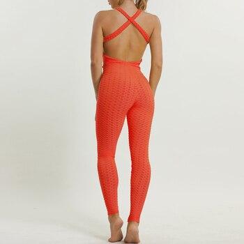 Open Back Sexy Sportswear Woman Gym Tight Leggings Fitness Jumpsuit Sport Romper Bodycon Playsuit Jogging Femme Yoga Cloth 2018