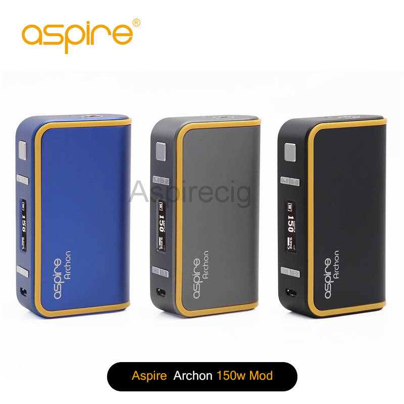 100% Original Aspire Archon 150W TC Box Mod E Cigarette 18650 Upgradable Firmware Temperature Control Vape Mod 1 Pcs / Lot original smoant charon 218w tc box mod firmware upgradable 218w vape mod powered by dual 18650 batteries with three memory mode