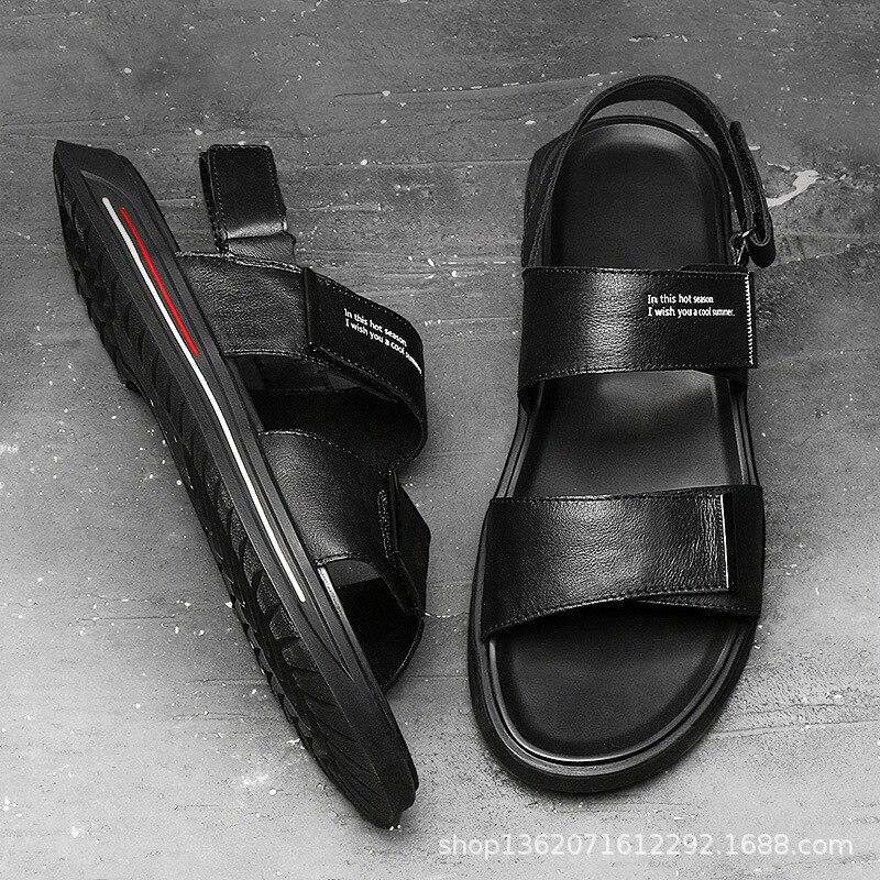 Véritable Casual Cuir Flip Pantoufles Plage Anti allumette Sandales Hommes Sneakers Vache En Tout dérapage Flops De Nouveau Air Été Chaussures Rome Plein vE8ppq