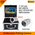 "Free shipping!Eyoyo New 7"" LCD 20m Underwater Fishing Fish Finder 8pcs Infrared LED 1000TVL Camera"