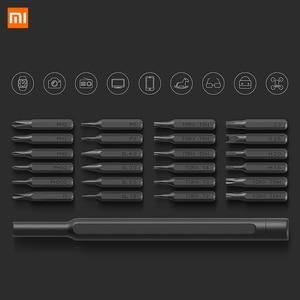 Image 3 - Orijinal Xiaomi Mijia Wiha günlük kullanım tornavida seti 24 hassas manyetik bit AL kutu tornavida xiaomi akıllı ev seti 2018