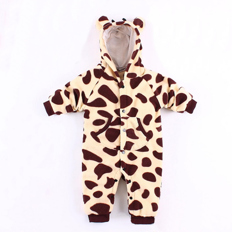 0-18M Newborn baby rompers Autumn Winter Baby boy clothes Jumpsuit Baby Girl animal Rompers Baby Warm Romper Clothes pajamas baby clothes winter keep warm flannel baby rompers baby boy girl coat next romper newborn kids clothes jumpsuit set