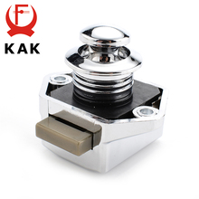 KAK Camper Car Push Lock Diameter 20mm RV Caravan Boat Motor Home Cabinet Drawer Latch Button Locks For Furniture Hardware