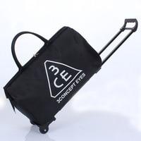 Large capacity waterproof folding Oxford Brass bag men and women travel bag luggage bag boarding bag
