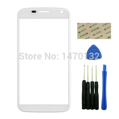 White Upper Front Outer Screen Lens Glass with Frame Replacement for Motorola Moto X XT1060 XT1058 With Adhesive Tools бп atx 350 вт exegate ex219182rus