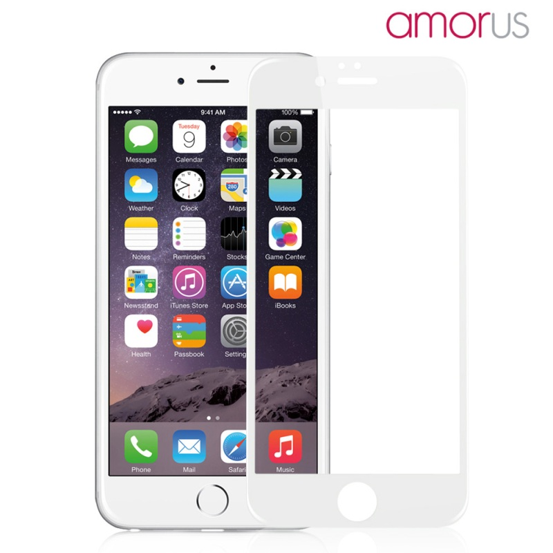 AMORUS for iPhone 6 s Plus HD 9H 3D Curved Edge Complete Covering Tempered Glass Screen Protector for iPhone 6s Plus / 6 Plus