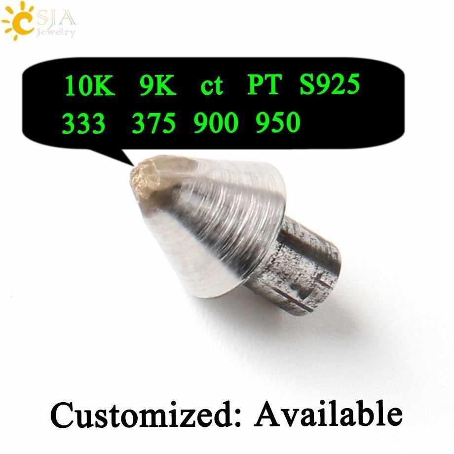 CSJA Gold Silver Platinum เครื่องประดับขนาดเล็กแม่พิมพ์แสตมป์ 10K 9K ct PT 375 333 900 950 S925 ผู้ชายผู้หญิงแหวนกำไลข้อมือทำเครื่องมือ E540