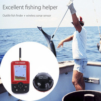 Outlife Smart Portable Depth Fish Finder with 100 M Wireless Sonar Sensor echo sounder for fishing Finder Lake Sea Fishing