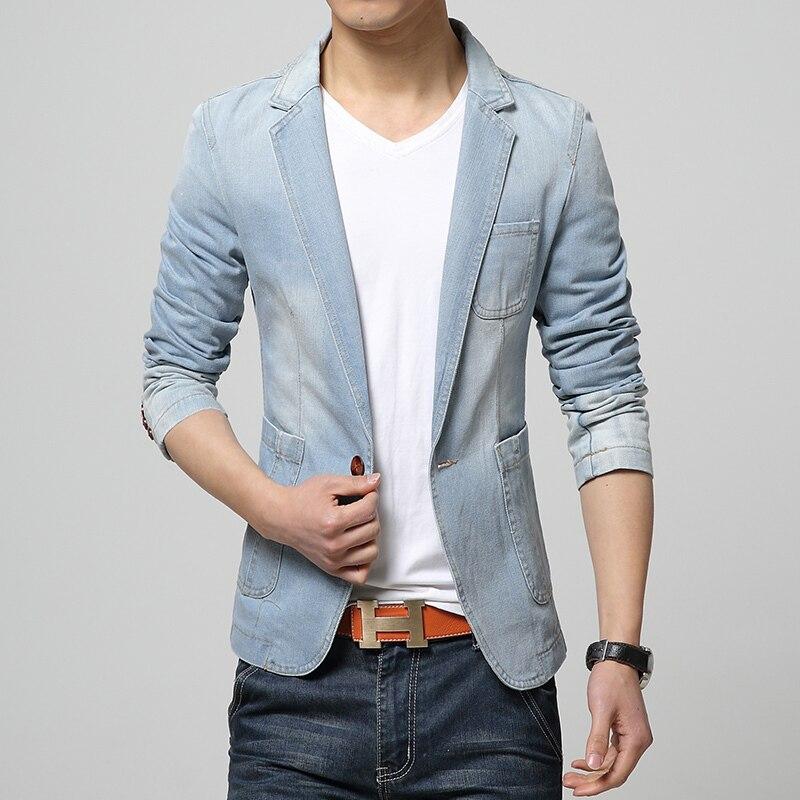 fca051ca1b6f9 2019 Denim Jackets suit slim fit Blazer suit