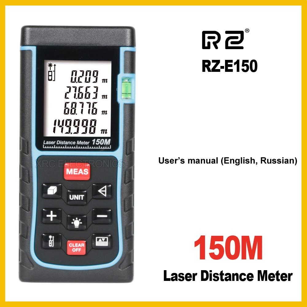 RZ Laser Distance Meter Range Finder Rangefinder RZ-E120 RZ-E150 120m 150m Tape Trena Ruler Tester Hand Tool Device Build rz 0 20