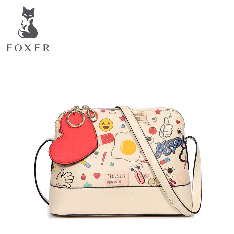ФОТО Split leather Women bag  2016 new graffiti messenger bag Fashion cartoon small square package