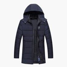 2017 New Fashion Winter Jacket Men Cotton Warm Jacket Zipper Parkas Wear Masculina Outwear Comfortable Thick Coat Size M-XXXL