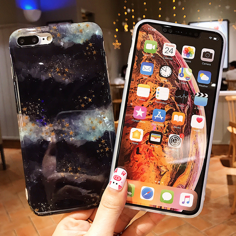 KIPX1120_9_JONSNOW Glitter Phone Case For iPhone X XR XS Max Cases Soft TPU Back Cover For iPhone 6S 6P 7 8 Plus Cover Case