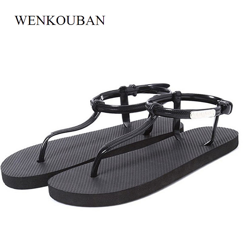 Beach Shoes Women Gladiator Sandals Flip Flops Summer Sandals Jelly Shoes Ladies Casual Shoes Flat Sandalias Chaussures Femme beach shoes woman sandals summer gladiator sandals ladies t stripe flip flops casual shoes flat slip on sandalias zapatos mujer
