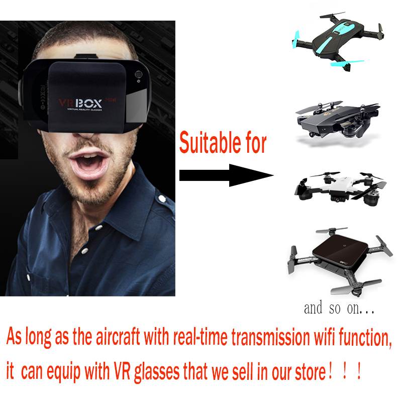 Mini 3D VR FPV Goggles Headset VR Glasses for RC Racing Drone Quadcopter Helicopter smartphone for all wifi camera drone in Parts Accessories from Toys Hobbies