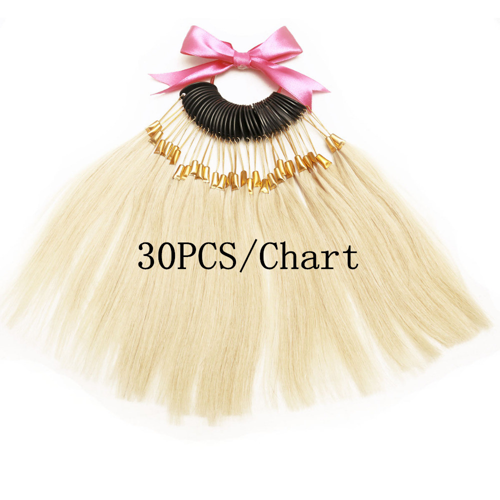 7inch human hair color ring 30pcsset for salon hair color chart 7inch human hair color ring 30pcsset for salon hair color chart extensions and salon hair dyeing sample can be dye any color in color rings from hair nvjuhfo Image collections