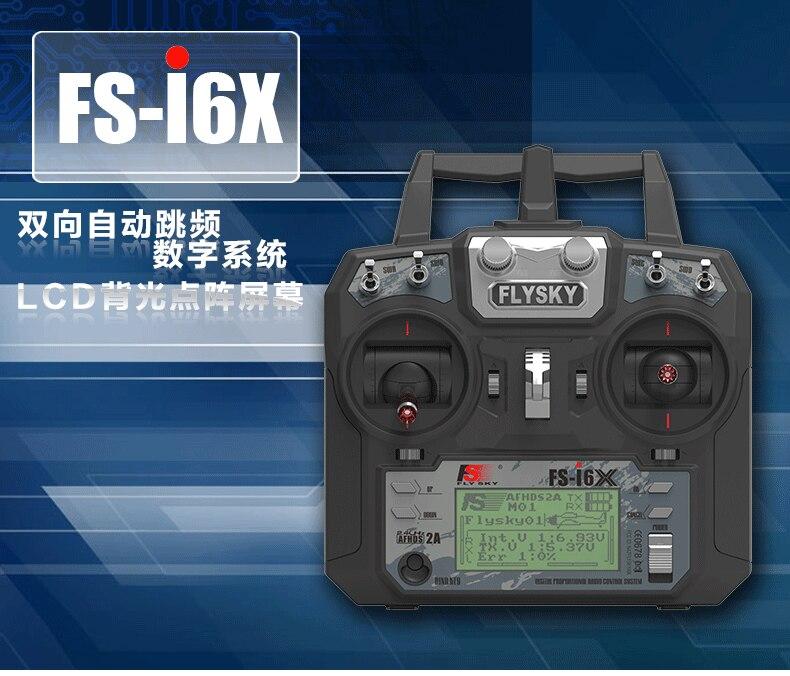Le plus récent émetteur de FS-i6X Flysky 2.4 GHz 10CH RC avec récepteur i-bus pour le mode avion hélicoptère quadrirotor RC 1/2