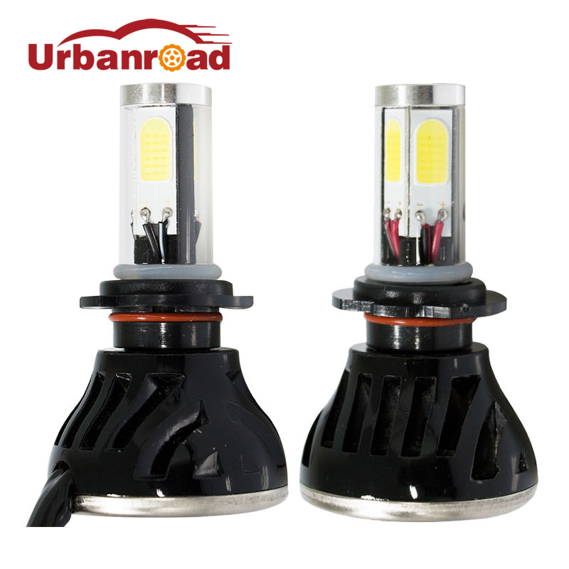 2pcs auto car led h4 8000lm headlights hi lo 80w 6000k White 3200LM 12v H1 H3 h4 H8 9005 9006 H7 turbo led bulb Headlamp Bulbs