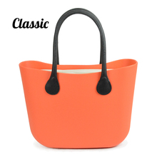 New Color Classic Big Size O bag style Bag With Black and White  Canvas Insert Inner and  leather Handles Obag fashion women Bag