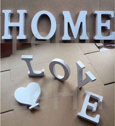 Captivating Home Decor Decoration Thick Wood Wooden White Letters Alphabet Wedding  Birthday 8cmX1.2cm Hot Sale Ma In Figurines U0026 Miniatures From Home U0026 Garden  On ...