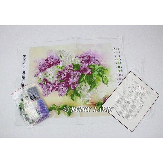 30.5×3 6cm Précis imprimé cristal perles kit de broderie fleurs perlage artisanat couture bricolage perles point de croix 10