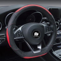 DONYUMMYJO D Ring Car Steering Wheel Cover Luxury Genuine Leather For Volkswagen Golf 7 GTI Golf