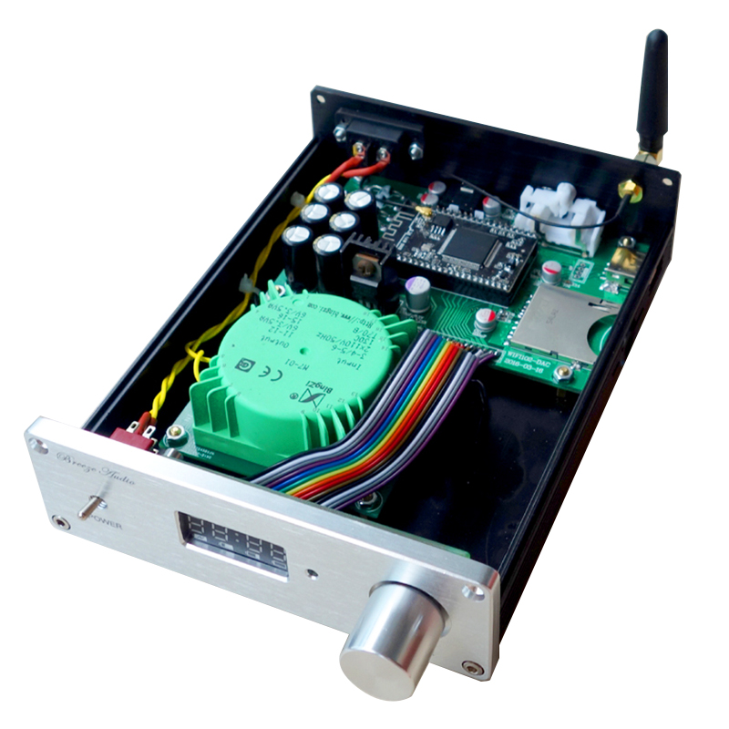 Breeze audio WD1 lossless transmission wifi decoder APE WAV SD card U disk player support ATPX fx audio m 200e mini hifi audio high fidelity amplifier support u disk sd card lossless bluetooth 4 0 120w 2 220v