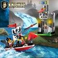 1017 castelo educacional enlighten building blocks brinquedos para crianças presentes para crianças cavaleiro barco seta compatível com lego