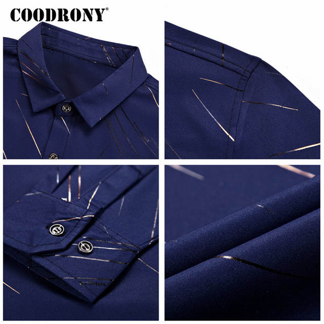 COODRONY Casual Shirts Long Sleeve Shirt Men Dress Brand Clothes 2018 Autumn New Arrivals Cotton Camisa Masculina Plus Size 8742