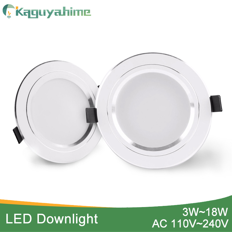 Kaguyahime 1pc/4pcs 3W-15W LED Downlight 220V 110V Round LED Recessed Spot LED Lamp Panel Light Aluminum Surface For Ceiling 10W(China)