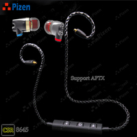 Pizen Senfer DT2 PLUS Pro In Ear Earphone Wired Aptx Bluetooth MMCX Microphone Cable For Iphone
