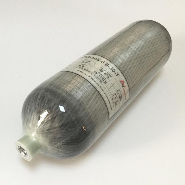Nuevas Llegadas Fibra de Carbono 6.8L Botella Botella Cilindro de Gas De Alta Presión 4500Psi Pcp Fuerza Aérea Condor Pcp Bomba 30mpa-A