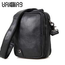 UniCalling New style cow leather men bag Fashion Zipper messenger Leisure small shoulder