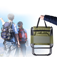 High Quality Folding Portable Stool Chair with Ice Pack Cooler Box Bag Outdoor Camping Fishing Picnic Equipment pique nique