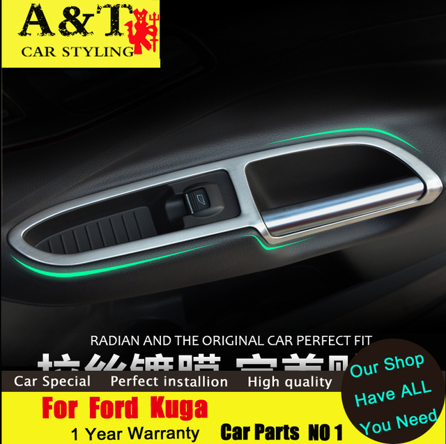 JGRT Car Styling For Ford Kuga Escape Chrome Interior Parts Trim 2013 2015  For Kuga