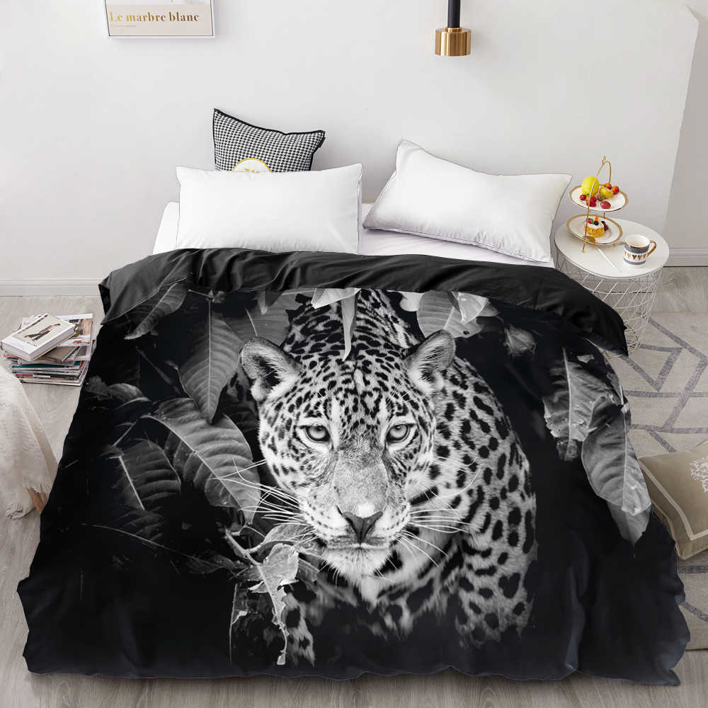 3D Print Duvet Cover Custom Design,Comforter/Quilt/Blanket case Queen/King,Bedding 220x240,Bedclothes Animal white leopard
