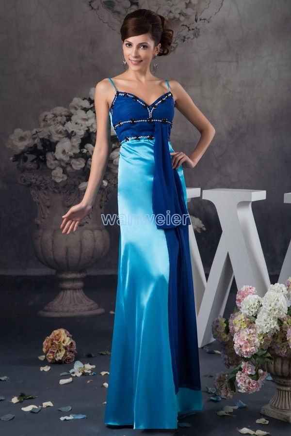 free shipping 2016 new design hot seller spaghetti strap beading brides maid gown long beach formal   dresses   sexy   evening     dresses