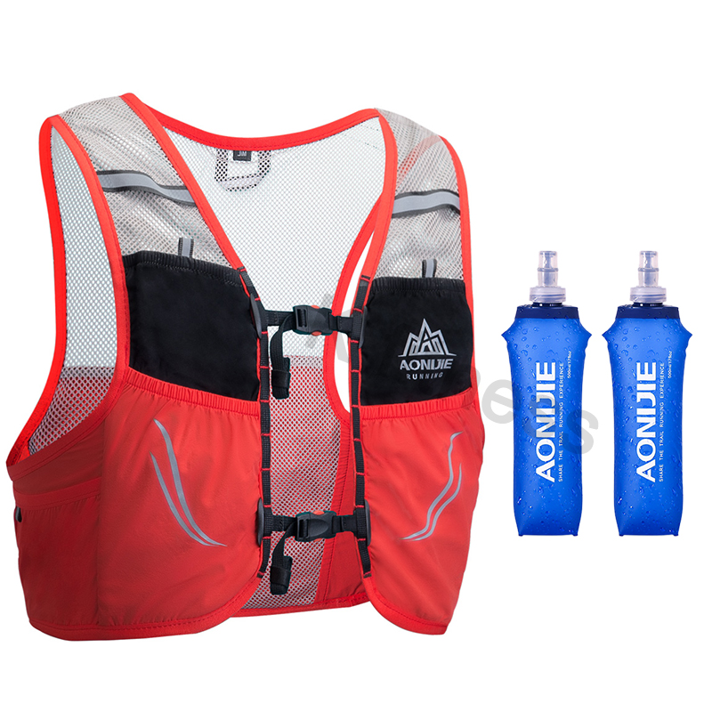 AONIJIE 2.5L Lightweight Backpack Running Breathable Cycling Marathon Ultralight Hiking Sport Bag 500ML Soft Flask