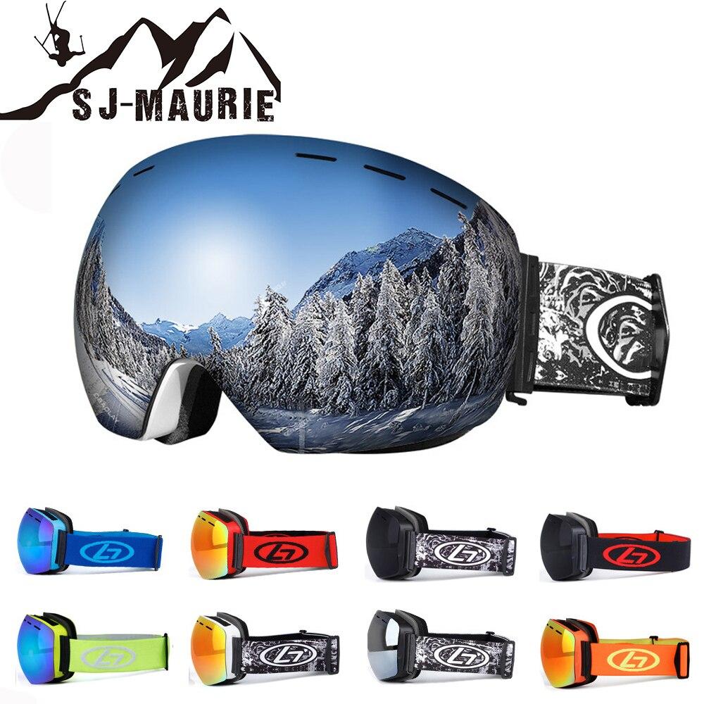 SJ-Maurie Ski Lunettes Double Lentille UV400 Anti-brouillard Grand Masque de Ski Lunettes de Ski Hommes Femmes Neige Snowboard lunettes HSSG001