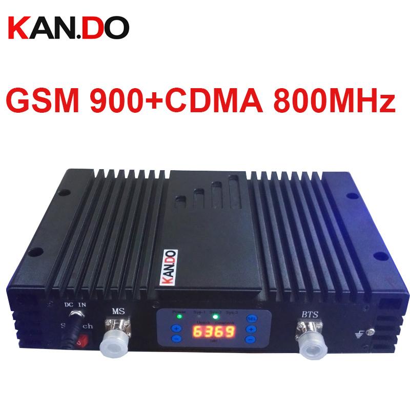 No Interfer To Base Station 70dbi CDMA+GSM DUAL Band Repeater AGC/MGC 800MHZ + 900MHz Signal Booster CDMA Repeater Gsm BOOSTER