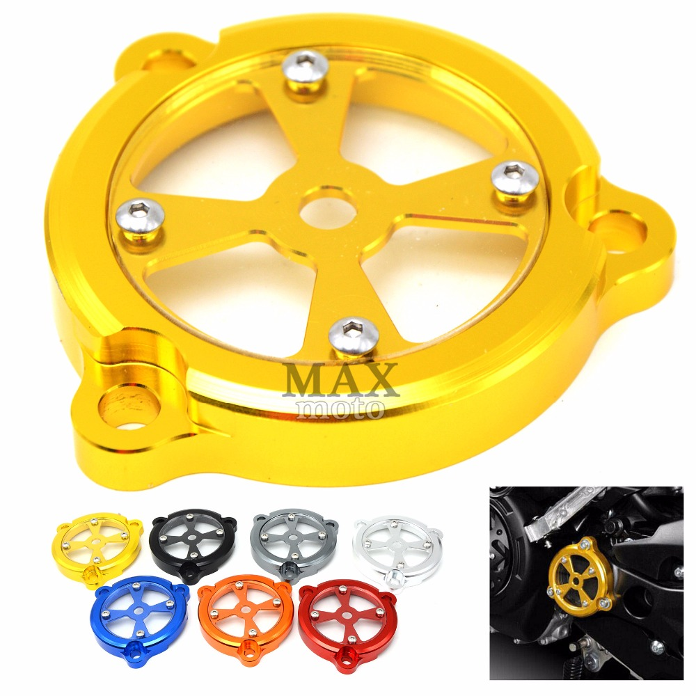 yellow CNC Motorcycle Engine Stator Protective Cover set decoration for yamaha TMAX530 TMAX 530 T-MAX 530 2012 2013 2014 2015