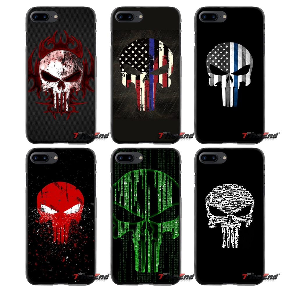Punisher Skull For Apple iPhone 4 4S 5 5S 5C SE 6 6S 7 8 Plus X iPod Touch 4 5 6 Accessories Phone Shell Covers