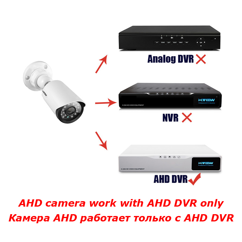 Image 5 - H.VIEW 720P Camera Surveillance AHD Surveillance CCTV Analog Camera High Resolution IR Cameras PAL NTSC Outdoor Video Cameras-in Surveillance Cameras from Security & Protection