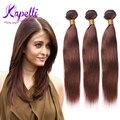 8A Malaysian Virgin Hair human hair bundles straight hair style 3pcs lot #4 Light Brown Malaysian straight hair Weave Bundles