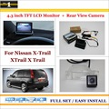 "- For Nissan X-Trail XTrail X Trail 2007~2012 Car Back up Rear View Camera + 4.3"" Color LCD Monitor = 2 in 1 Parking System"