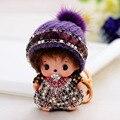 Monchichi Keychan Sleutelhanger кристалл куклы помпонное брелок повелительницы автомобиль любовь подарки