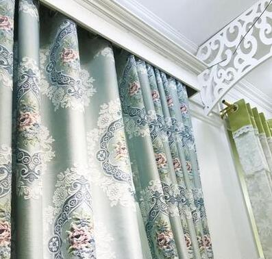 Customization of new finished living room curtain relief jacquard shading in 2019