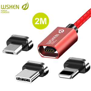 WSKEN X1 Magnetic Cable for iPhone Magnetic Charging Micro USB Cable USB Type C USB C Cable for Samsung Huawei 3A Fast Charger(China)