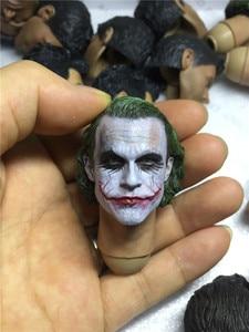 Image 5 - 1/6 skala Joker szef Sculpt heath ledger wysokiej jakości głowy rzeźba na 12 cal Hottoys Phicen Tbleague Verycool figurka DIY